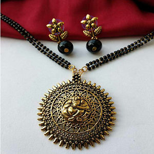 Pendant Mangalsutra With Matching Earrings MMS-120
