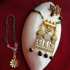 Pendant Mangalsutra With Matching Earrings And bracelet  MMSCOMBO-101