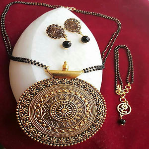 Pendant Mangalsutra With Matching Earrings And bracelet  MMSCOMBO-102