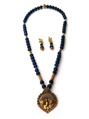 Designer Handmade Indo Western Necklace With Earrings MCAN-120