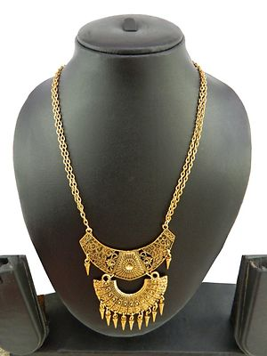 Designer Tribal Art Necklace With Beautiful Design Antique Rajwadi Long Necklace MBN-104