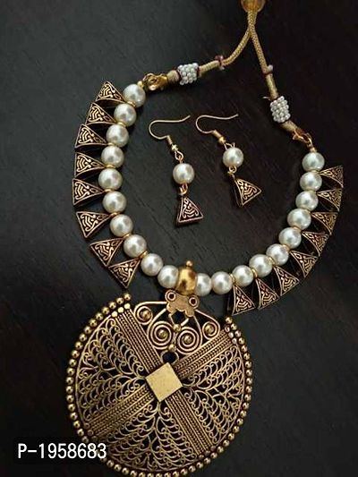 Designer Indo Western Necklace With Earrings - MCAN-112
