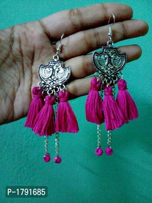 oxydised hand made earrings
