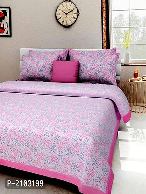 Pure Cotton Printed King Size Bedsheet With Two Pillow Covers