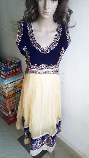 partywear heavy suit steached with satin salwar &net duppata.