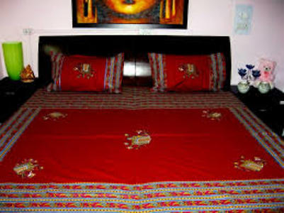 JAIPURI PATCH WORK EMBROIDERY BEDSHEETS