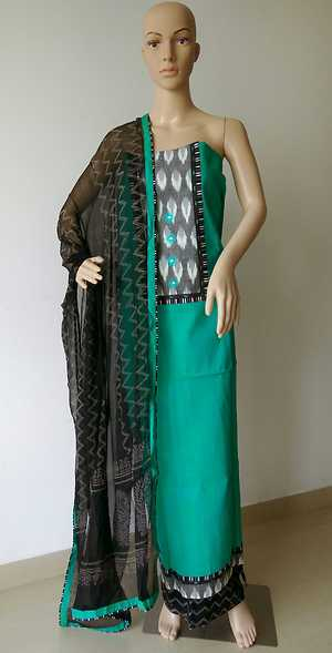 Double shaded handloom cotton suit