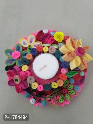 quilling art work candle stand and home decoration