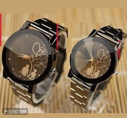 Stylish Analog Metal Watches for Couples (Combo)