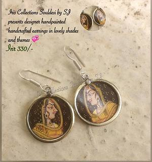 Mughal era princess earrings- Handmade and handcrafted by Iris Collections - Souldesi by SJ