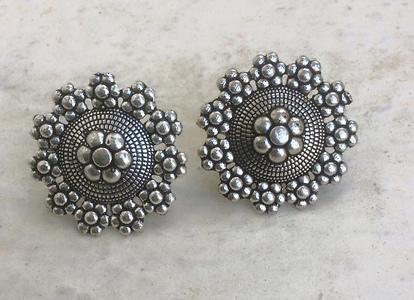 German silver studs