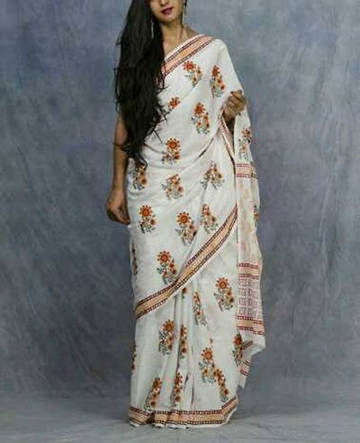 Mulmul saree with blousepiece