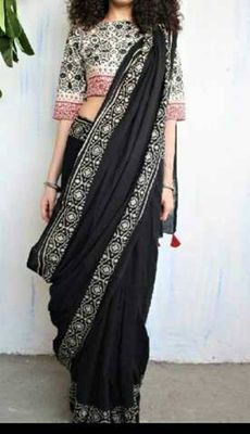 Beautiful mulmul cotton saree with blousepiece