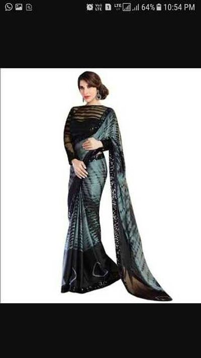 Beautiful mulmul cotton shibori saree with blousepiece