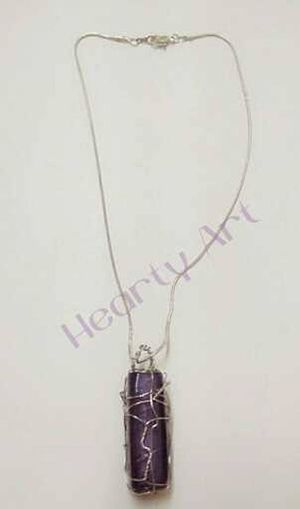 wire wrapped stone chain...