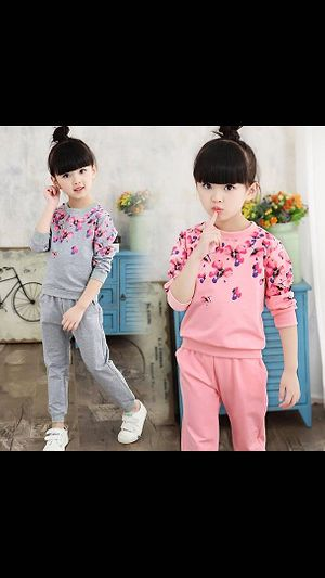 Kids set dress \nSize  3  to  10 yrs ( cotton mix ) colour as picture.  \nLength : 43/45/48/51/54/57/60\nBust: 64/70/74/