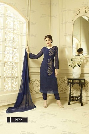 Chiffon Embroidery Unstitched Suit Set