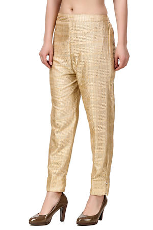 Brover New Trendy Party Pant with Santoon lining- Gold- 30