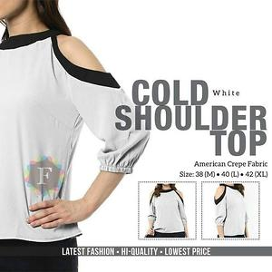 Brover Cold Shoulder Top White - M