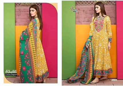 ✨KHADDI LAWN SUPERHIT DESIGN ✨ AVAILABLE IN SINGLE/MULTIPLE Top - Cambric Cotton Print with self embroidery Bottom - Semi Lawn Dupatta - pure Cotton Printed Ready to Ship👆🏻👆🏻👆🏻 8447909008 any bu