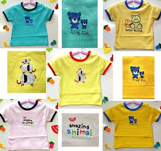 Pack of 5 Cute embroidered t shirts