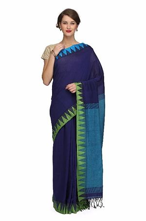 Handloom Khadi Saree With Handwoven Border With Blouse