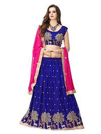 Blue Silk Lehenga