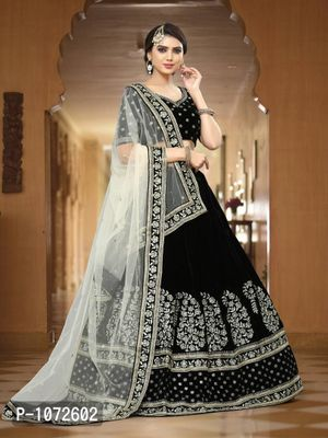 Black Embroidered Lehenga Choli