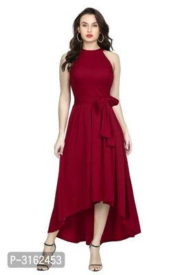 Maroon Rayon Dresses For Women's