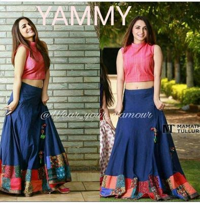 Trendy Designer Printed Lehenga choli Party wear Yami Blue