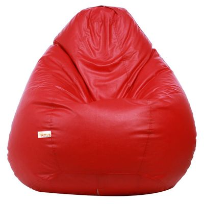 Classic XXL Bean Bag Cover  (without Beans) -Red