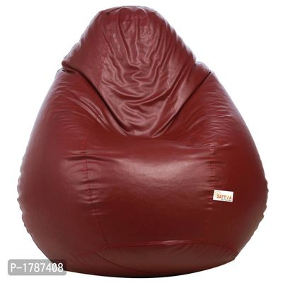 Classic XXL Bean Bag Cover  (without Beans) -Maroon