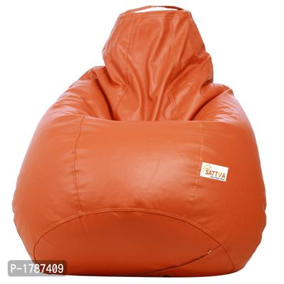 Classic XXL Bean Bag Cover  (without Beans) -Orange
