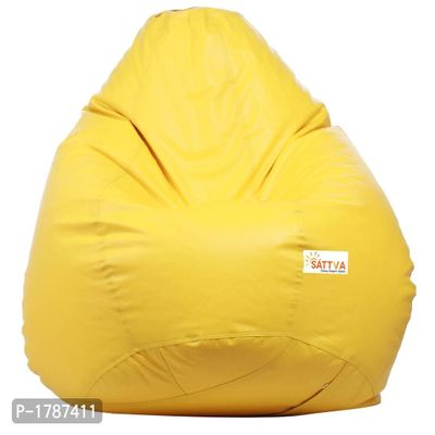 Classic XXL Bean Bag Cover  (without Beans) -Yellow