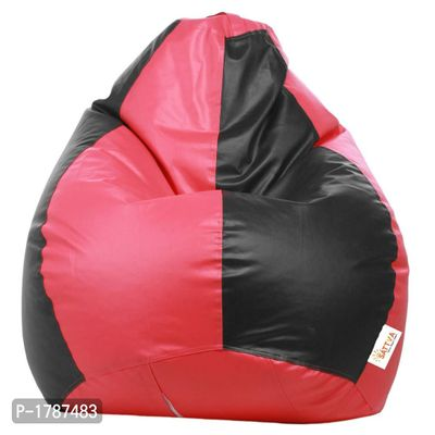 Classic XXL Bean Bag Cover (without Beans ) Dual  - Black and Pink