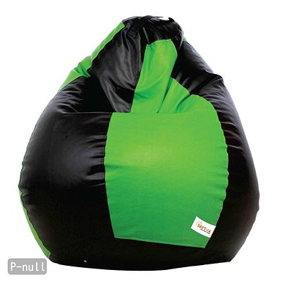 Classic XXL Bean Bag Cover  (without Beans )Dual  - Black and Neon Green