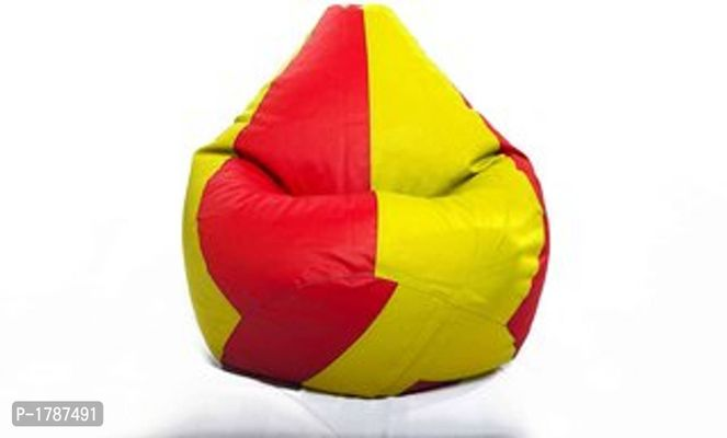 Classic XXL Bean Bag Cover (without Beans )Dual  - Red and Yellow