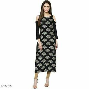 Crepe Kurtis all sizes available s to xxl