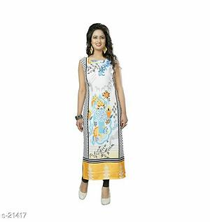 Crepe Kurtis all sizes are available s to xxl