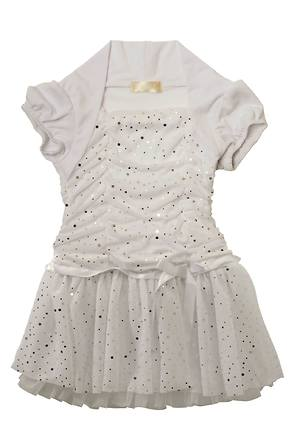 White Sequence Party Frock 4-5 Years