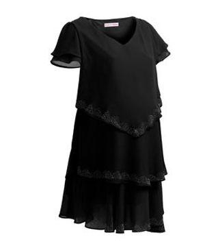 Black 3 layered maternity dress Large