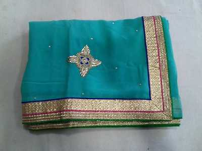 Georgette Saree with Hand booti