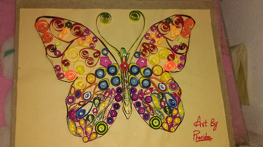 Quilling Butterfly Wall Hanging