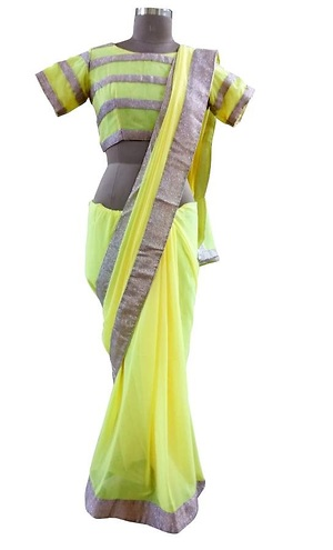 Exclusive designer saree with stitched blouse