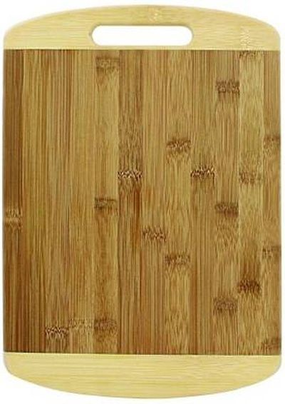 Natural Bamboo Chopping Board with Handle for Vegetables, Fruits, Meat Wooden Cutting Board  (Beige Pack of 1)