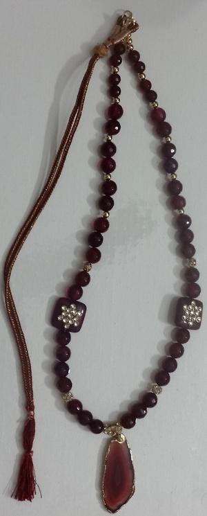 Semiprecious bead mala