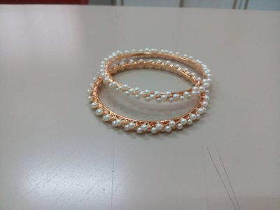 Pearls Bangles ( set of 4)