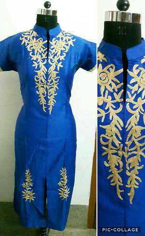 Cotton with embroidery work (Stylicious