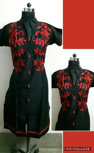 cotten with embroidery work (Stylicious