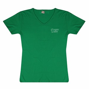 Athletic Classic Girls Dark Green Tshirt-100% Combed Cotton(Available-L Size)